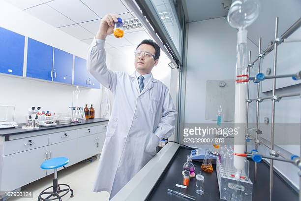 Researcher in chemical lab