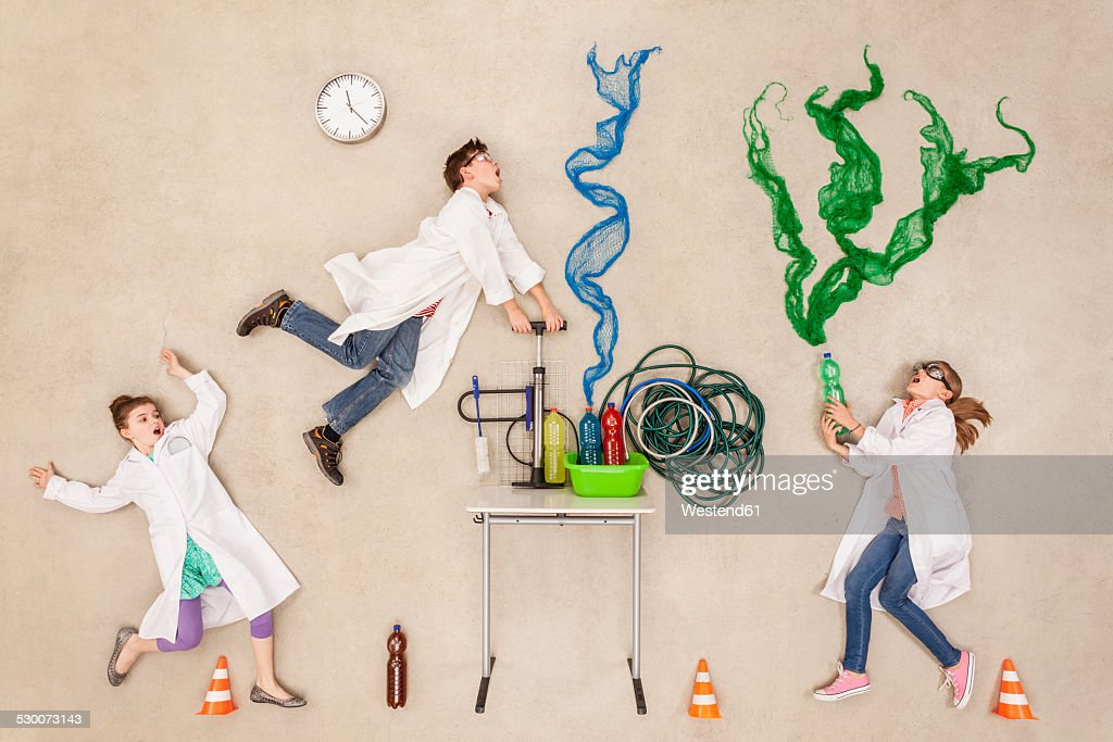Researchers in laboratory doing experiment