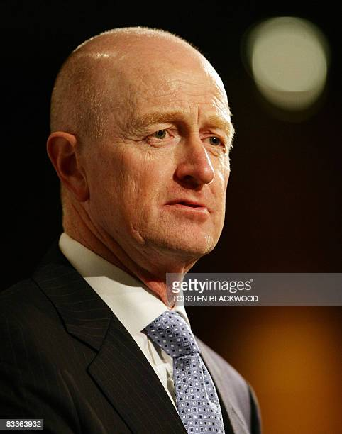 Reserve Bank of Australia Governor Glenn Stevens addresses the TransTasman Business Circle in Sydney on October 21 2008 Australia's central bank...