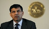 Reserve Bank of India governor Raghuram Rajan announces the first bimonthly Monetary Policy Statement 201415 at the RBI headquarters in Mumbai on...