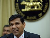 Reserve Bank of India governor Raghuram Rajan speaks during a news conference at the RBI headquarters in Mumbai on December 2 2014 India's central...