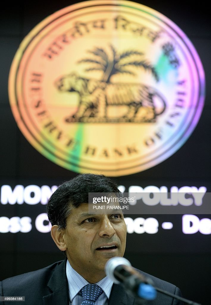 Reserve Bank of India governor Raghuram Rajan speaks during a news conference at the RBI headquarters in Mumbai on December 1 2015 India's central...