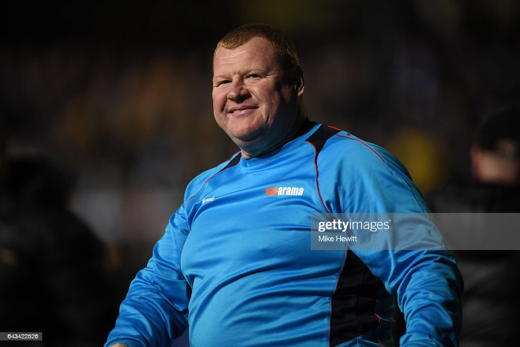 Reserve goalkeeper Wayne Shaw of Sutton acknowledges the crowd after The Emirates FA Cup Fifth Round match between Sutton United and Arsenal at Gander Green Lane on February 20, 2017 in Sutton, Greater London.
