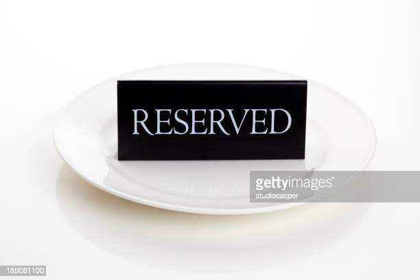 ご予約の表示プレート