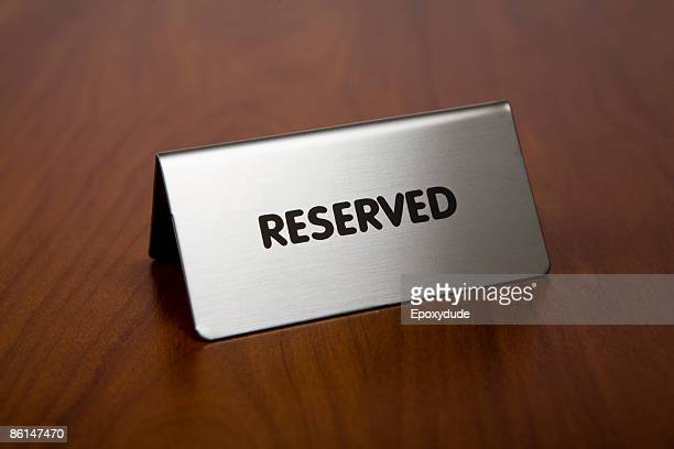 A reserved sign