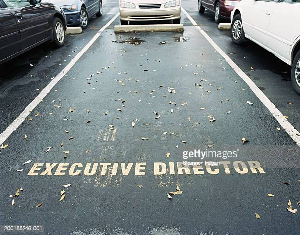 Reserved space in parking lot