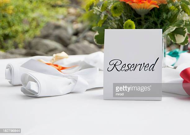 Reserved Table at Wedding Reception