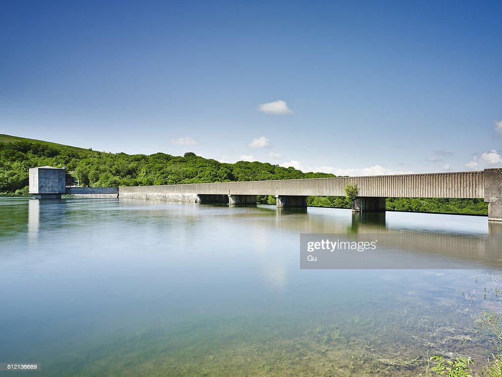 Reservoir on Wimbleball Lake, Exmoor National Park, England, UK