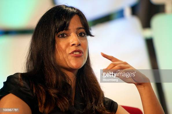Reshma Saujani a US congressional candidate from New York speaks during the TechCrunch Disrupt conference in New York US on Wednesday May 26 2010 The...