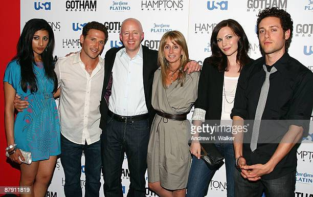 Reshma Shetty Mark Feuerstein Chris McCumber NBC Universal Cable Entertainment President Bonnie Hammer Jill Flint and Paulo Costanzo attend Hamptons...