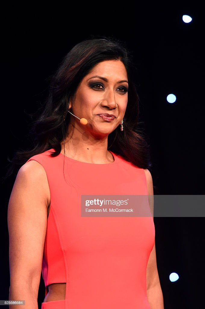 Reshmin Chowdhury talks on stage at the BT Sport Industry Awards 2016 at Battersea Evolution on April 28, 2016 in London, England. The BT Sport Industry Awards is the most prestigious commercial sports awards ceremony in Europe, where over 1750 of the industry's key decision-makers mix with high profile sporting celebrities for the most important networking occasion in the sport business calendar.