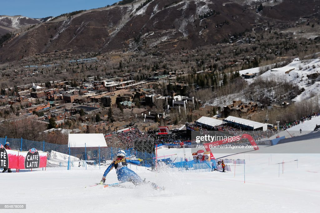 Resi Stiegler of USA competes during the Audi FIS Alpine Ski World Cup Finals Women's Slalom and Men's Giant Slalom on March 18, 2017 in Aspen, Colorado