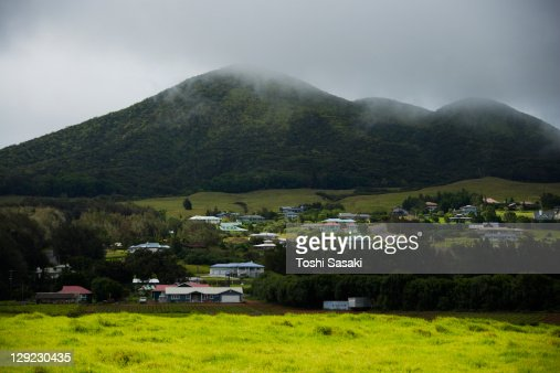 Residence building at hill at Waimea Town. : Stock Photo