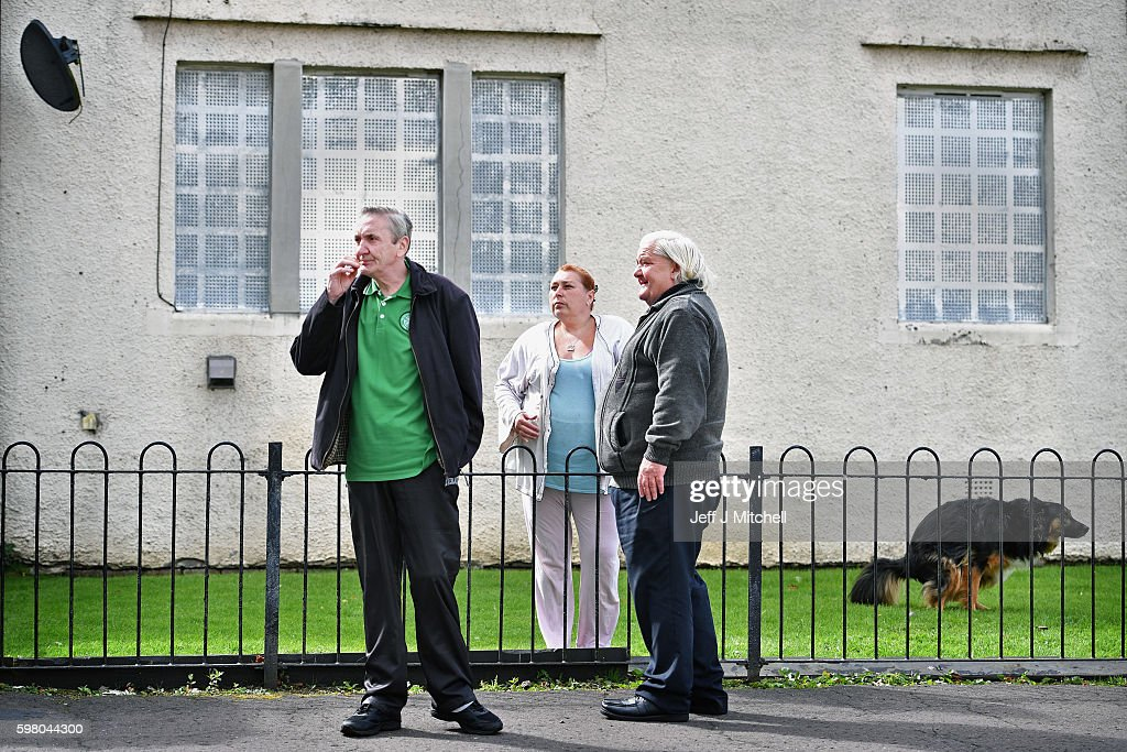 Residence of Tannahill in Ferguslie Park stop for a chat on August 31 2016 in PaisleyScotland For the second successive year Ferguslie Park in...