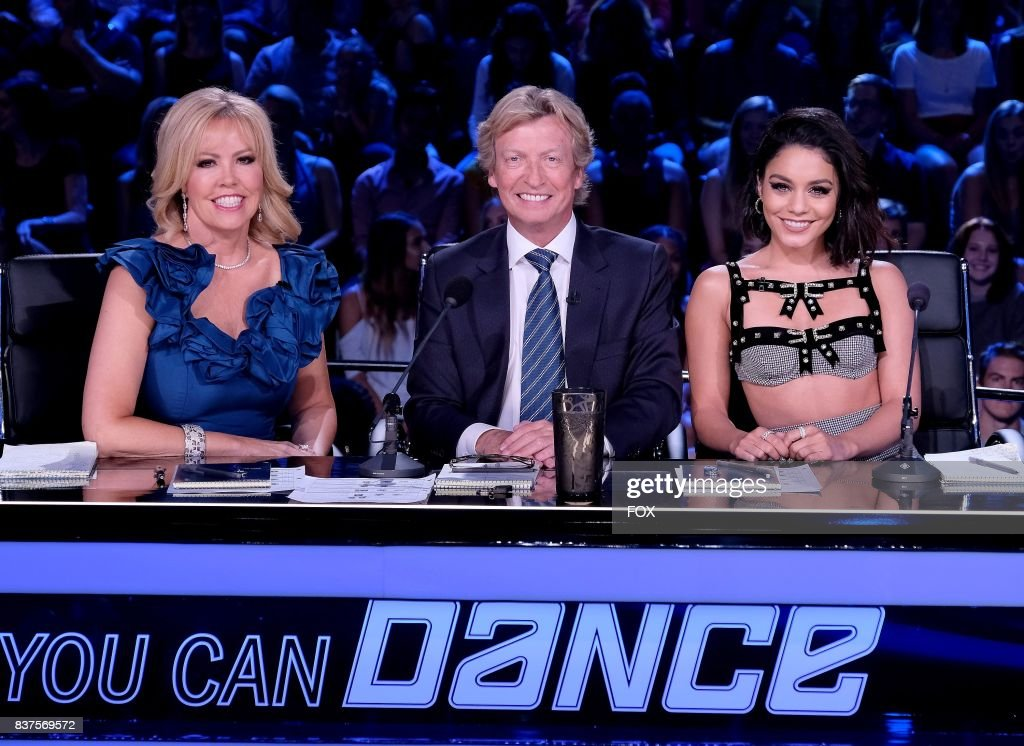 Resident judges Mary Murphy, Nigel Lythgoe and Vanessa Hudgens on SO YOU THINK YOU CAN DANCE airing Monday, August 14 (8:00-10:00 PM ET live/PT tape delayed) on FOX.