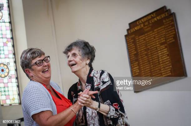 Resident Margaret Belsher and Linda Barton vice chairman at the Donald Thomas Centre an elderly day care centre which has been under threat of...