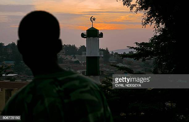 A resident of the Kimironko area of Kigali looks at Kimironko mosque on January 25 2016 According to Rwandan police Muhammad Mugemangango the deputy...