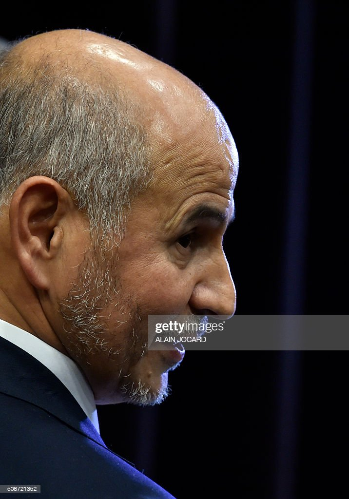 resident of the Union of Islamic Organisations of France (UOIF) Amar Lasfar, is picturedduring the UOIF symposium, on February, 6, 2016, in Paris. / AFP / ALAIN JOCARD