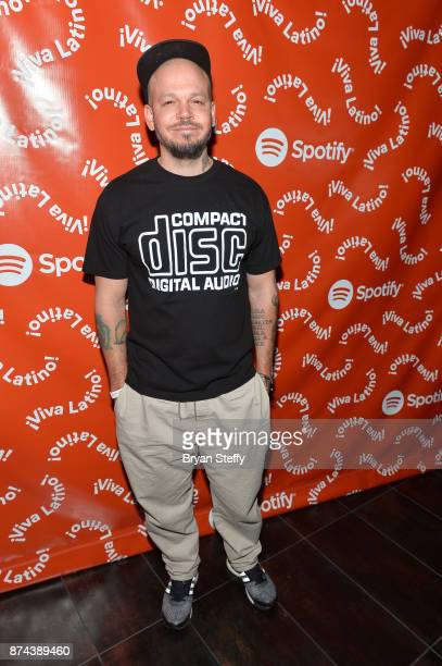 Residente at Spotify Celebrates Latin Music and Their Viva Latino Playlist at Marquee Nightclub on November 14 2017 in Las Vegas Nevada