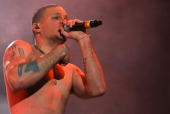 Residente of Calle 13 performs onstage during the 2009 Goliath Festival at Alameda Poniente Santa Fe on December 6 2009 in Mexico City Mexico