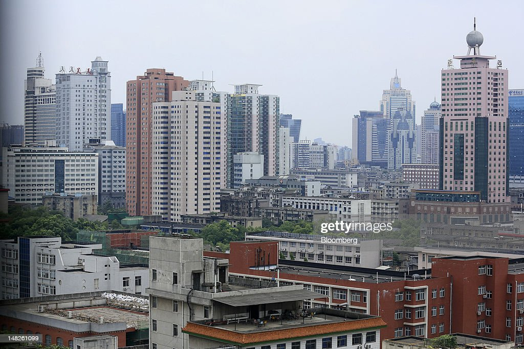 Residential and commercial buildings stand in Changsha, Hunan Province, China, on Thursday, July 12, 2012. Gross domestic product (GDP) expanded 7.6 percent in the second quarter of 2012 from a year earlier, China's National Bureau of Statistics said today in Beijing. Photographer: Nelson Ching/Bloomberg via Getty Images