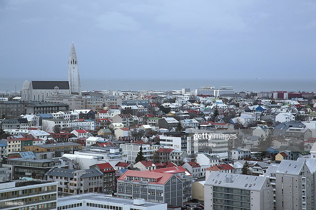 Residential and commercial buildings stand on the city skyline in Reykjavik, Iceland, on Thursday, Jan. 3, 2013. Creditors of Iceland's three biggest failed banks are fighting for a waiver to krona controls imposed in 2008 amid risks pay-outs will be delayed beyond 2015. Photographer: Arnaldur Halldorsson/Bloomberg via Getty Images