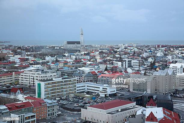 Residential and commercial buildings stand on the city skyline in Reykjavik Iceland on Thursday Jan 3 2013 Creditors of Iceland's three biggest...