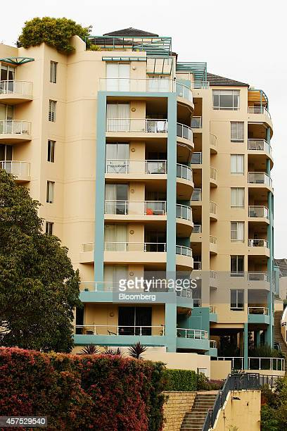 A residential apartment building stands in the suburb of Wollstonecraft in Sydney Australia on Saturday Oct 18 2014 Sydneys median home price rose 14...