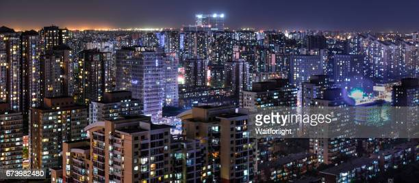 Residential Area at Night in Beijing
