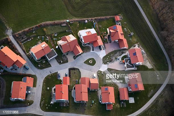 Quartier résidentiel de haut