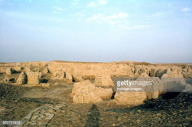 Residential area Ur Iraq 1977 Remains of the ancient Sumerian city of Ur