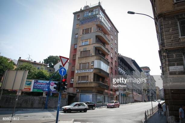 A residential building in the city center of Rijeka Croatia is seen on 23 July 2017