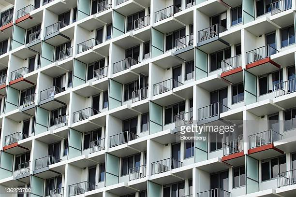 A residential building stands in the suburb of Waterloo in Sydney Australia on Thursday Dec 29 2011 Home building approvals in Australia slumped 298...