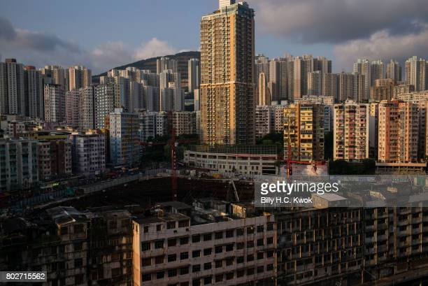 Residential buildings and a construction area is seen on May 29 2017 in Hong Kong Hong Kong Hong Kong is marking 20 years since the territory was...