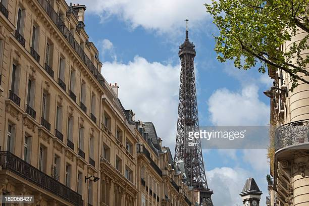 Bâtiments résidentiels et de la Tour Eiffel, Paris, France