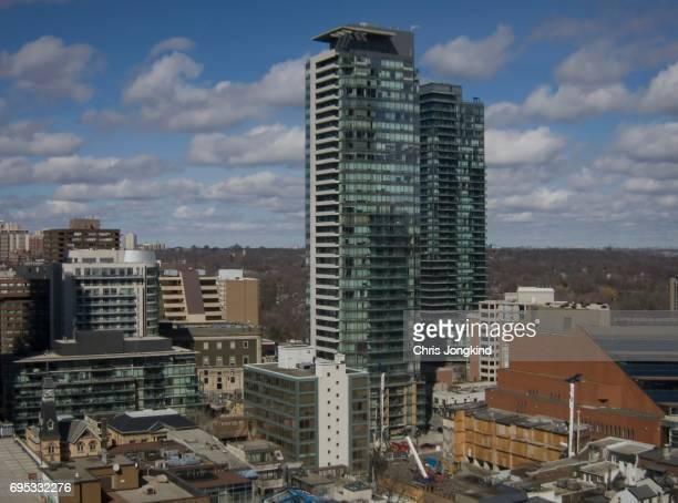Residential Buildings in City Skyline