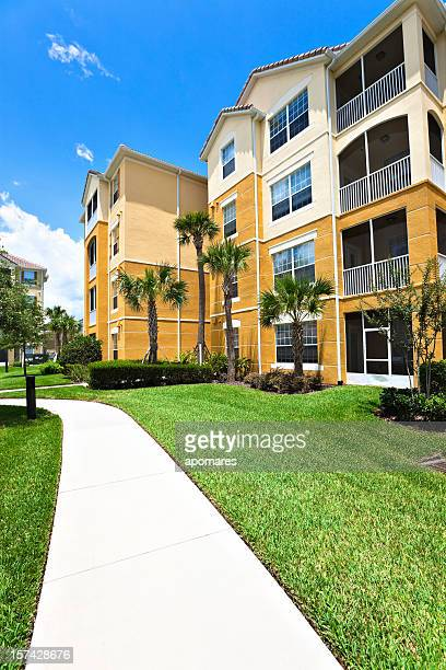 Residential buildings newly constructed condominiums in Florida