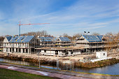 Residential construction site in Capelle aan den IJssel in the Netherlands
