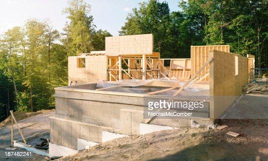 panorama de site construction Résidentielle avec piscine