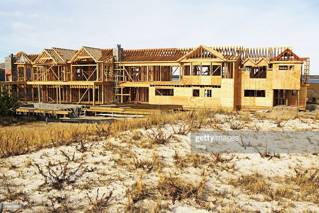 Residential Construction Site Stock Photo | Getty Images