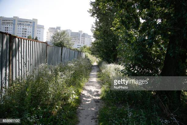 Residential development near the Chopin airport in Warsaw are seen on 5 August 2017