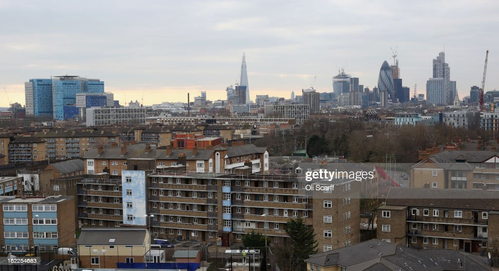 Residential developments in the London borough of Tower Hamlets on February 21, 2013 in London, England. A recent study has shown that 42 per cent of children in Tower Hamlets live in poverty, making it the worst area of the UK for child poverty. The research was carried out by the 'Campaign to End Child Poverty' who have produced a map describing levels of child poverty across the UK.