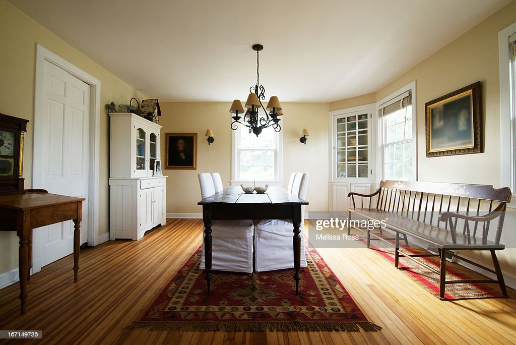 Residential dining room decorated colonial style