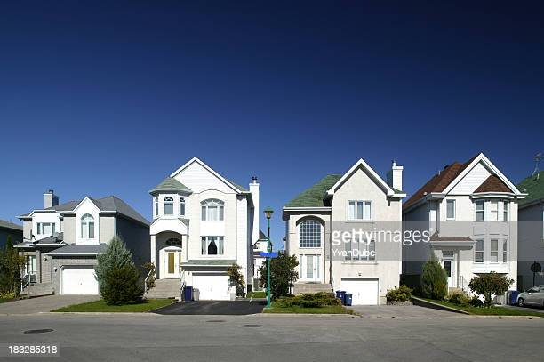 residential district houses in a row