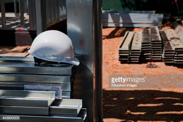 Residential home construction site using steel for framing Steel while not a common material for residential framing is 94% recyclable has been...