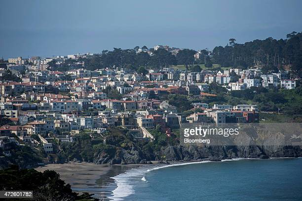 Residential homes stand in the Sea Cliff area of San Francisco California US on Friday May 8 2015 San Francisco Mayor Ed Lee will seek voter approval...