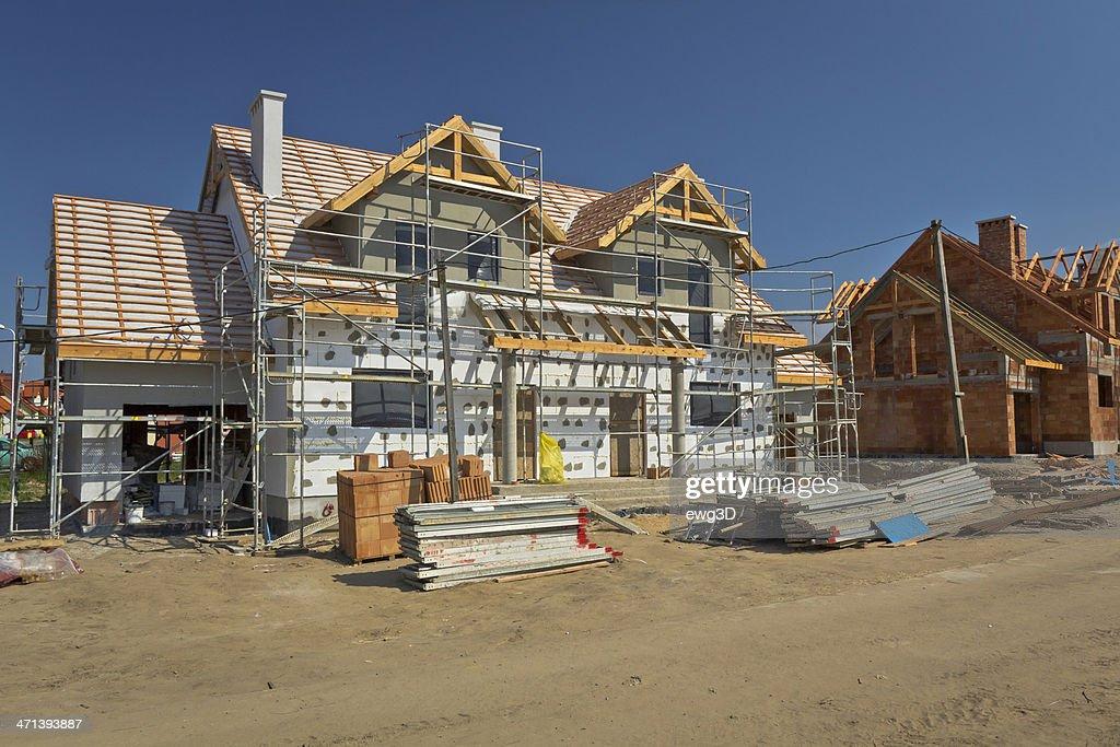 Residential Haus im Bau : Stock-Foto