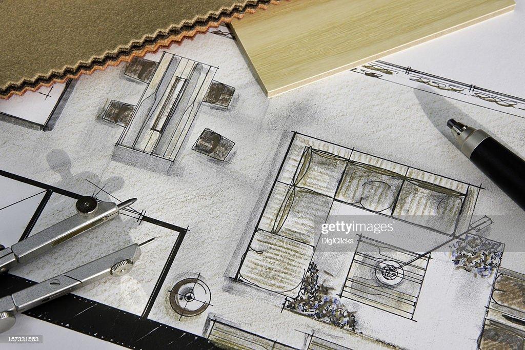 Residential Interior Design Concept : Stockfoto