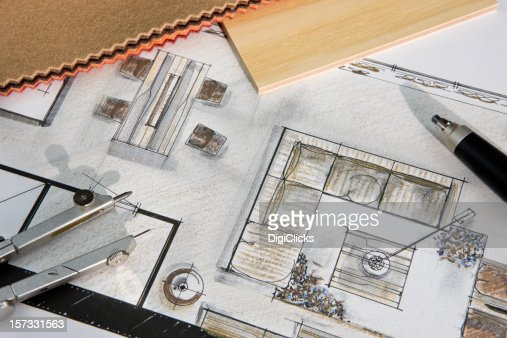 Residential Interior Design Concept : Stock Photo