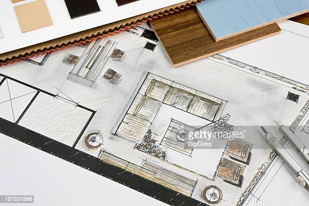 Residencial sala de estar conceito